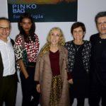 Marina Spadafora con il marito Jordan Stone e Franca Sozzani