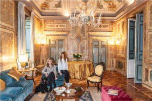 La principessa Ruspoli a palazzo Ruspoli