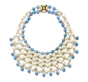 Collaretta, perle di vetro, anni '50