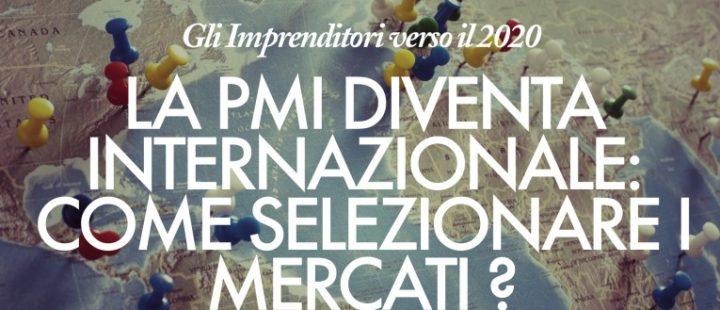 """Cover della ricerca """"La PMI diventa internazionale"""""""
