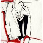 """Gianfranco Ferrè. """"Moda un racconto nei disegni""""-Cremona-2017. Prêt-à-porter 1985-disegno"""