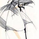 """Gianfranco Ferrè. """"Moda un racconto nei disegni""""-Cremona-2017. Prêt-à-porter 1988-disegno"""