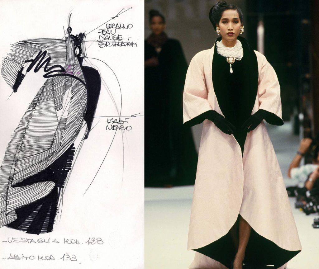 """Gianfranco Ferrè. """"Moda un racconto nei disegni""""-Cremona-2017. Alta-Moda 1988"""