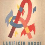 Adolfo Busi-copertina brochure pubblicitaria- Thermotessuti Lanificio Rossi-fine anni '40
