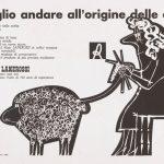 Pino Tovaglia annuncio pubblicitario-filati Lanerossi 1958ca