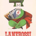 Armando Testa-annuncio pubblicitario-tessuti Lanerossi 1953