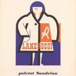 Collage -annuncio pubblicitario-paletot Sandrina Lanerossi-anni '50