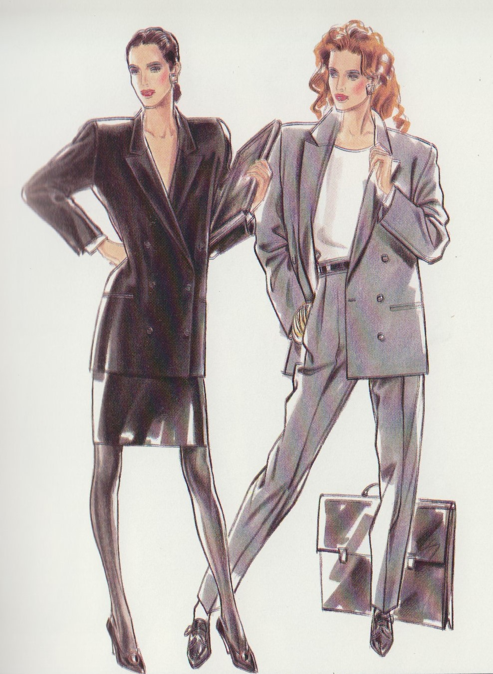 Power dressing look 1980
