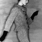 Elsa Martinelli in Balenciaga ph Clifford Coffin Vogue settembre 1954