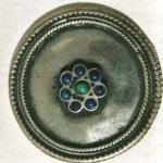 Bottone indiano argento e pietre dure fine '600 inizi '700