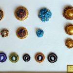 Bottoni vari: murano, pietre dure, murrine, cammei-onice, giada, lapislazzuli