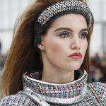 Chanelarella Style-fascia antracite metallico-dettagli diamantati