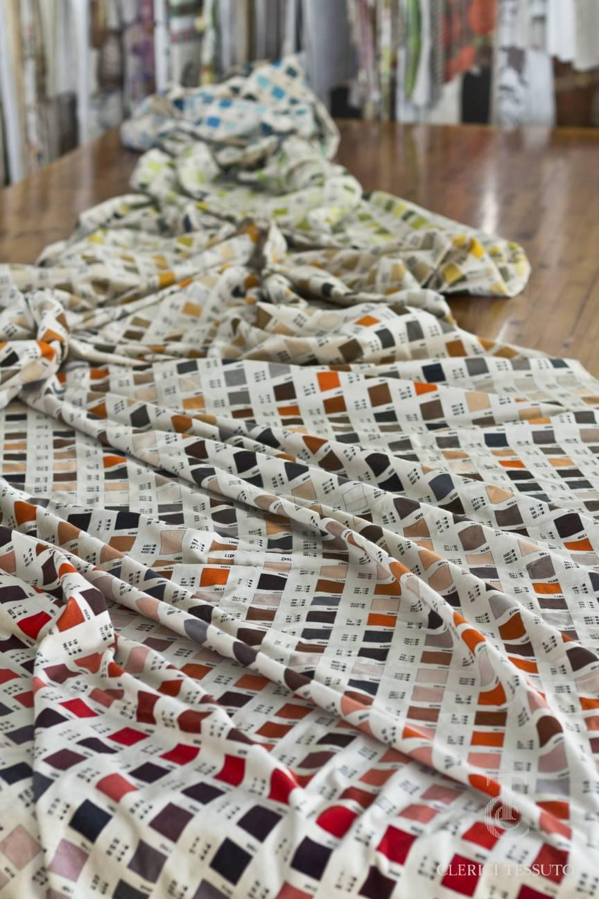 Tessuto Clerici - Atlante dei colori utilizzati per la stampa digitale