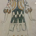 De Chirico, Figurino preparatorio - costume di damigella - Ripr. Archivio Storico del Teatro Maggio Musicale Fiorentino - ph. Monica Bracaloni