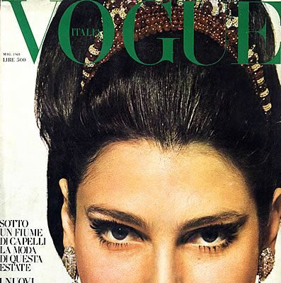 Bernedetta Barzioni cover Vogue ph David Bailey
