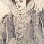 """Bozzetto per Maria Stuarda-ph. M. Bracaloni particolare da """"Anna Anni dal segno alla scena"""""""
