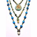 Splendida Persia collane in faiance Persia epoca Sasanide VII secolo