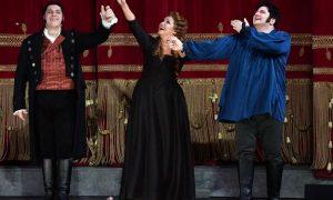 Andrea Chénier, 7 12 2017 I tre protagonisti - Le bellissime voci di Luca Salsi, Anna Netrebko,Yusif Eyvazov