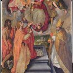 Jan van der Straedt, detto Giovanni Stradano- La Madonna dona la Cintola a san Tommaso - 1590 Montemurlo, pieve di San Giovanni Decollato