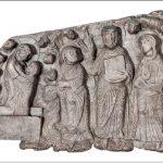 Maestro di Cabestany - Morte, Glorificazione e Assunzione della Vergine con san Tommaso che mostra la Cintola 1160 0 circa Cabestany, chiesa di Notre-Dame-des-Anges