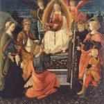 Filippo Lippi e bottega La Madonna assunta dona la Cintola a san Tommaso 1456-1466 circa - Prato, Museo di Palazzo Pretorio