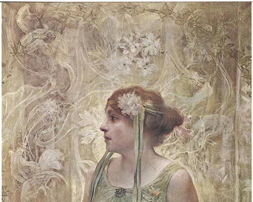 """""""Divina Creatura"""" Giovanni Battista Carpanetto_- Fiore di vita-1902-1903"""