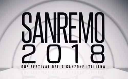 Festival S. Remo 2018 il logo rigorosamente bianco