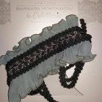 La mia gorgiera, chiffon di seta plissè color dusty blue – ph. Monica Bracaloni