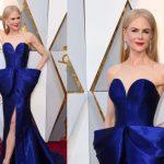 Nicole Kidman in blu Armani Privé - Oscar 2018