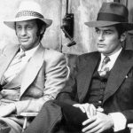 "Alain Delon e Jean Paul Belmondo nel film ""Borsalino"""