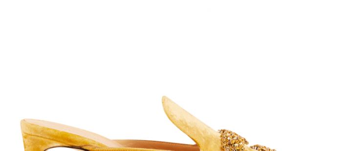Sabot giallo Giannico - tacco in stile Kitten Heels courtesy Giannico