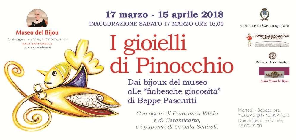 """""""I gioielli di Pinocchio"""" - Museo del Bijou - Locandina"""