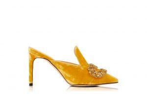 Sabot giallo Giannico - tacco a stiletto