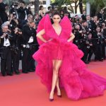 Deepika Padukone in un vistosissimo fucsia Ashi Studio - Photo credit © GettyImages