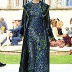 Curiel Haute Couture A/I 18-19-Abito ricamato bluette e verde courtesy Curiel