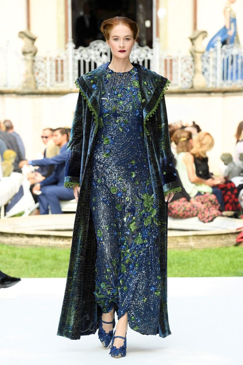 e92bdfe586 Curiel Haute Couture A/I 18-19-Abito ricamato bluette e verde courtesy