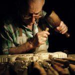 """Homo Faber""- Venetian master woodcarver, Bruno Barbon ph Susanna Pozzoli"