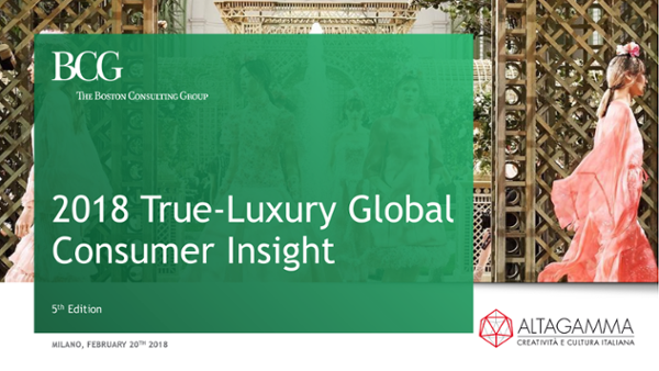 """True Luxury Global Consumer Insight"""