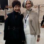 Zhao Huizhou con Simona Como Bersani autrice dell'articolo