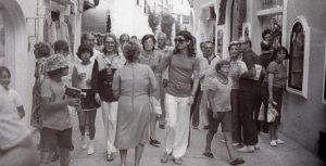 Jacqueline Kennedy a passeggio per Capri