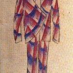 Giacomo Balla studio per abito maschile