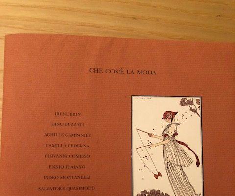"""""""CHE COS'È LA MODA"""" cover"""