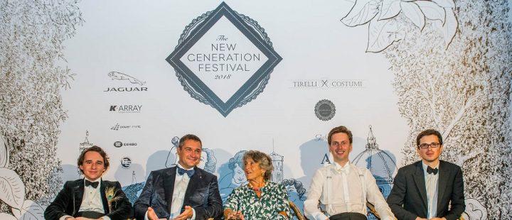 The New Generation Festival, Palazzo Corsini, 2018 R. Granville, un amico di NGF, G. Corsini, M. Fane, F. Parham.