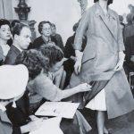 Sfilata nell' atelier di Via Veneto 1956- Modella Audrey Mac Donald courtesy Archivio Ferdinandi