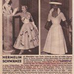 Dolores Francine Rhiney abito di V. Ferdinandi - testata straniera -courtesy archivio Ferdinandi